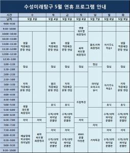 수성미탐 5월 연휴 영과반 프로그램